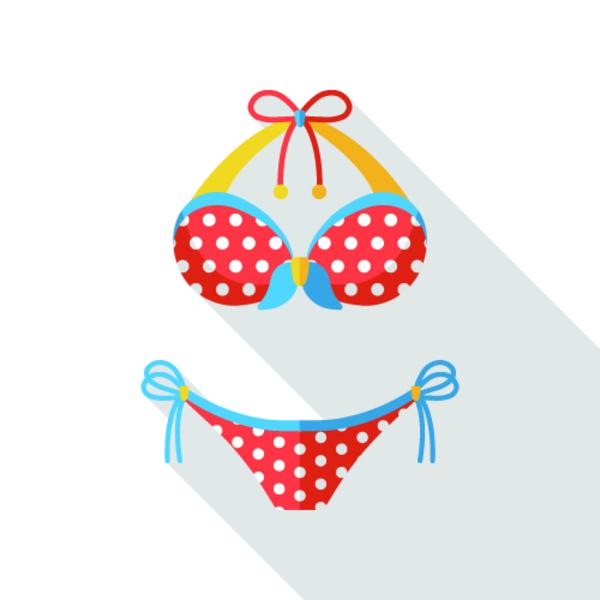 nakenbilder av kvinner røde prikker nedentil