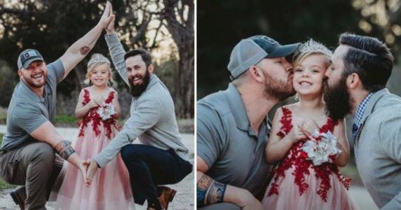 Her viser pappaen og stefaren sin kjærlighet til datteren: Ikke et «stakkars skilsmissebarn»