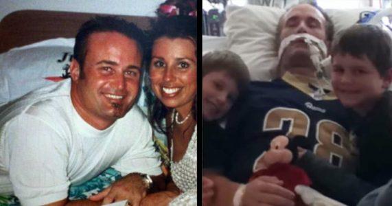 Den 41-årige trebarnspappaen døde etter å ha drukket energidrikke. Nå advarer enken ALLE